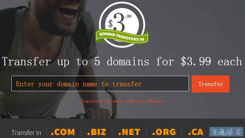 Rebel $3.99 .COM/.NET/.ORG/.BIZ/.CA域名转移