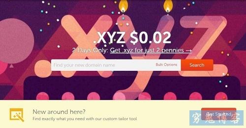 NameCheap-2美分[0.13元]注册.xyz域名