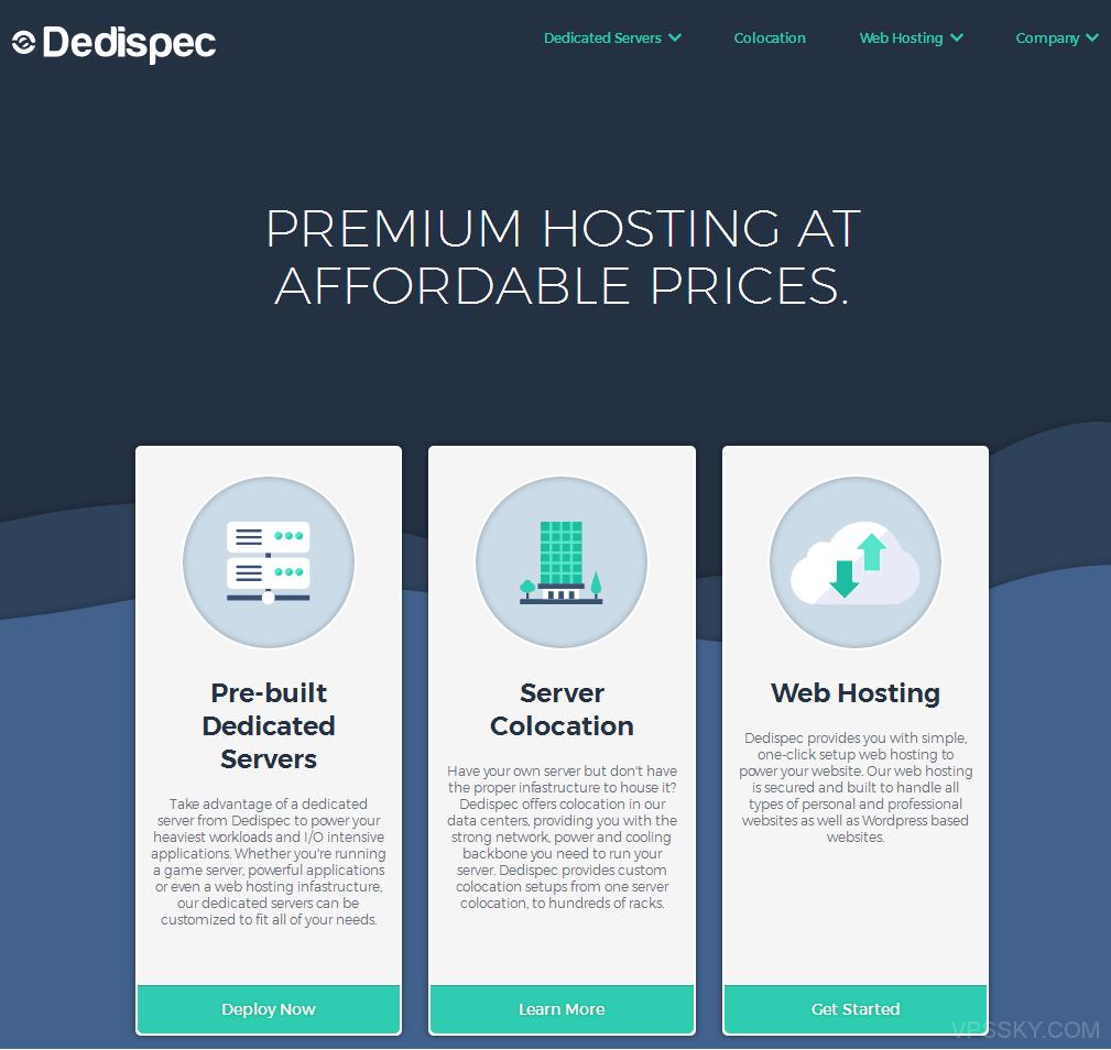[服务器]Dedispec:25美元/月-Xeon 5420/24g内存/2T硬盘/100m不限流/5IP