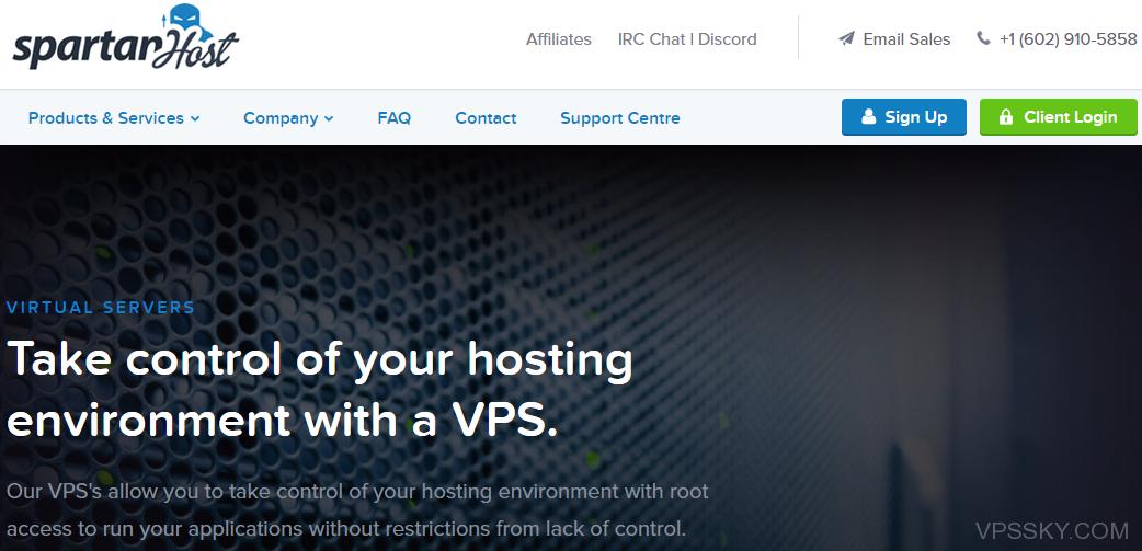 spartanhost:2.5美元/月-KVM/西雅图/512M内存/Windows/免费DDoS防护
