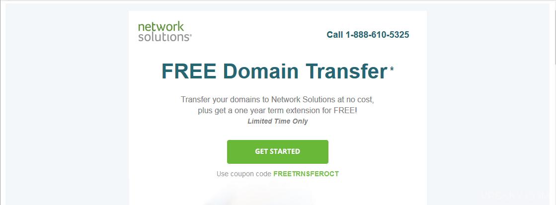 Network Solutions 转入顶级域名免费续期一年不限量