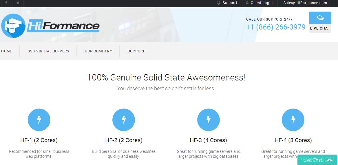HiFormance:5美元/月-KVM/3g内存/30g硬盘/3T流量/犹他州